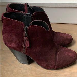 Rag & Bone Burgundy Margot boot. Size 8